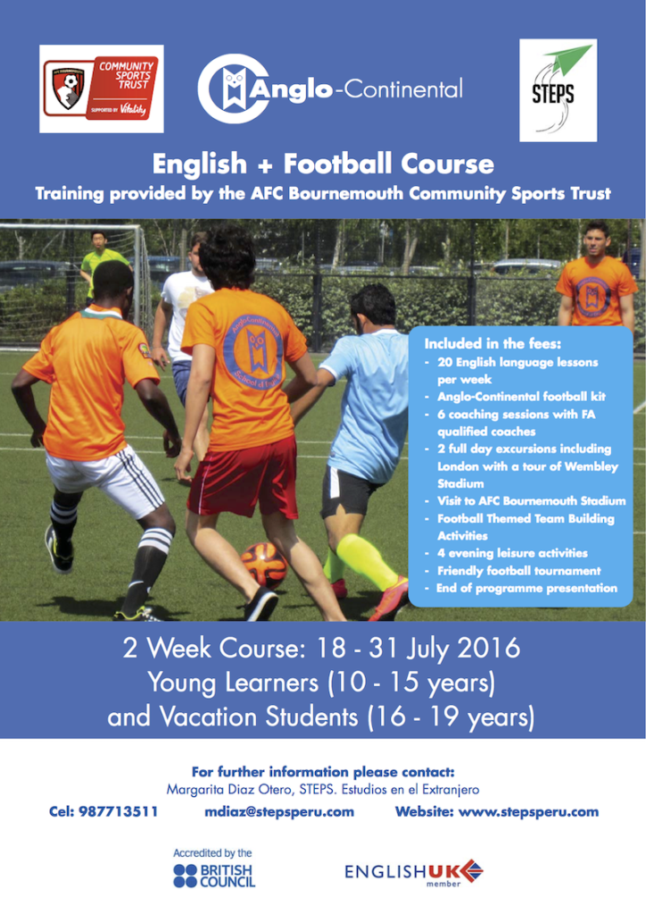 English + Football Course Flyer - STEPS